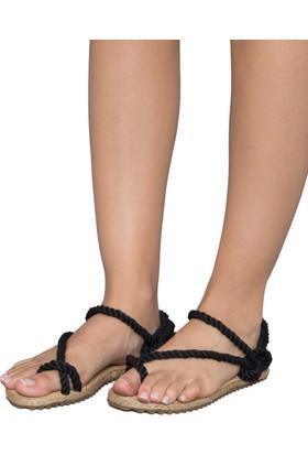 Gio&Mi F2 Siyah Lacivert Sandalet