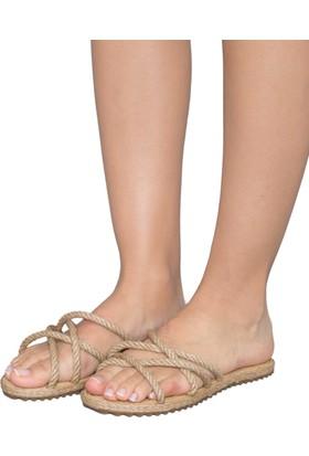 Gio&Mi F6 Bej Sandalet