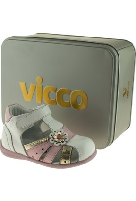 Vicco 907.Z.189 Vip Bebe Deri Beyaz Çocuk Sandalet