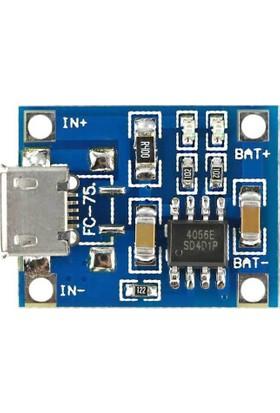 Robotzade TP4056 3.7V Şarj Aleti - 5V 1A Lithium Battery Charger