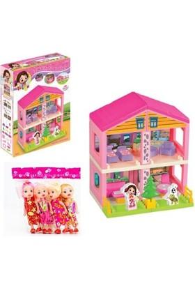 Kkd Niloya Evi Lisanslı Oyuncak Ev Oyuncak + 2 Adet Bebek