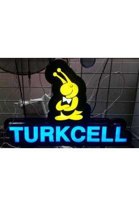 "Projeneon Led Tabela Turkcell Telefoncu Tabelası Neon ""Kumandalı 16 Renk"" 58 x 38 Cm"