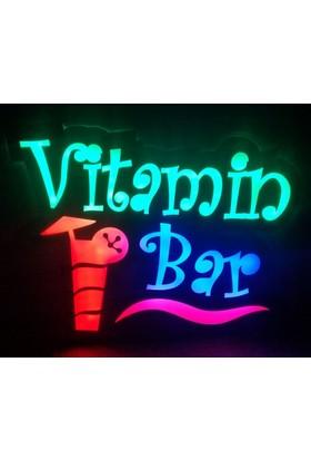 """Projeneon Led Tabela Vitamin Bar """"Kumandalı 16 Renk"""" 50 x 38 Cm"""