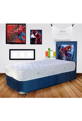 Home Shopping Mall Tek Kişilik Baza+Yatak+Başlık Spiderman