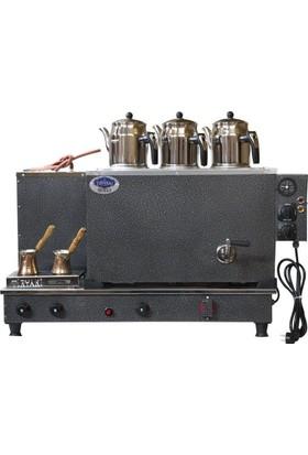 Tiryaki Elektrostatik Çay Kazanı 3 Demlikli