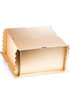 Pastdizayn Altın Pasta Kutusu