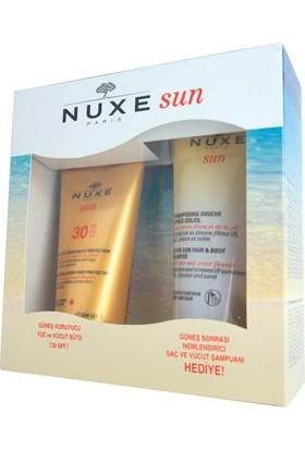 Nuxe Güneş Koruyucu Yüz Ve Vücut Sütü Spf30 150 ml + Güneş Sonrası Nemlendirici Şampuan
