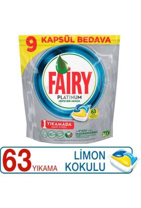 Fairy Platinum Bulaşık Makinesi Deterjanı Kapsülü Limon Kokulu 63 Yıkama
