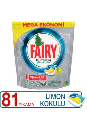 Fairy Platinum Bulaşık Makinesi Deterjanı Kapsülü Limon Kokulu 81 Yıkama
