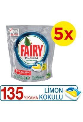 Fairy Platinum Bulaşık Makinesi Deterjanı Kapsülü Limon Kokulu 135 Yıkama
