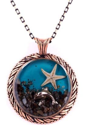 Bijuzeyn Deniz Yıldızı Madalyon Kolye