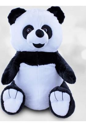 Kare Dekor Oturan Panda Peluş 45 Cm