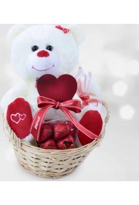 Kare Dekor Seni Seviyorum Aşk Sepeti