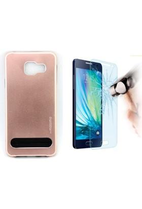 Motomo Vizyon İletişim Samsung Galaxy A3 2016 Kılıf Motomo Arka Kapak + Cam