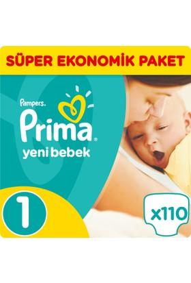 Prima Bebek Bezi Yeni Bebek 1 Beden Yenidoğan Süper Ekonomik Paket 111 Adet