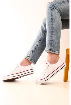 Gön Trend Ayakkabı 35992 Beyaz Keten