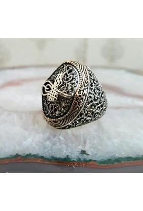 Takıhan 925 Ayar Gümüş Osmanlı Tuğralı Yüzük