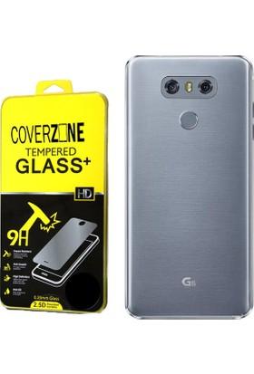 Coverzone Lg G6 Kılıf 0.2 Mm Silikon + Cam