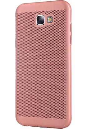 Coverzone Samsung Galaxy A3 2017 Kılıf Delikli Soft Mat Rubber