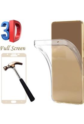 Coverzone Samsung Galaxy A7 2017 Kılıf Silikon 0.2Mm + 3D Tam Kaplayan + 3D Araç Kokusu