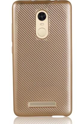 Coverzone Xiaomi Redmi Note 3 Kılıf Karbon Silikon + 3D Araç Kokusu