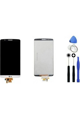 Casecrown Lg G3 Dokunmatik Lcd Ekran Beyaz + Sökme Aparatı