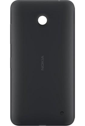 Casecrown Nokia Lumia 630 Arka Pil Batarya Kapak Siyah