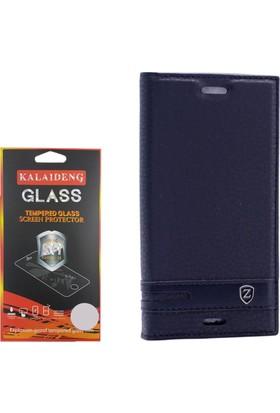 Gpack Sony Xperia X Compact Kılıf Kapaklı Mıknatıslı Elite +Cam