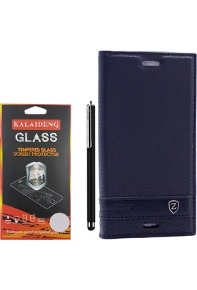 Gpack Sony Xperia X Compact Kılıf Kapaklı Mıknatıslı Elite +Kalem +Cam