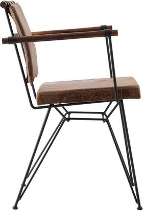 Ak Sandalye Endüstriyel Apyzn Metal Ahşap Sandalye