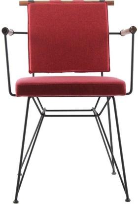 Ak Sandalye Endüstriyel Apyzk Metal Ahşap Sandalye