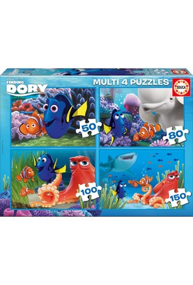Educa Puzzle Finding Dory Multi 4 in 1 Puzzle