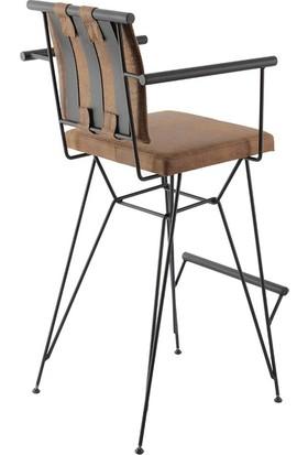 Kozza Home Endüstriyel Metal Pyz Bar Sandalyesi