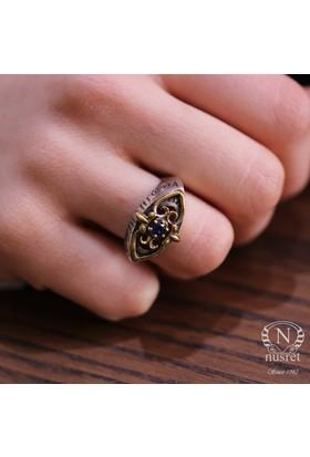 Nusret Takı 925 Ayar Gümüş Safir Taşlı Antik Bizans Tasarım Yüzük 20