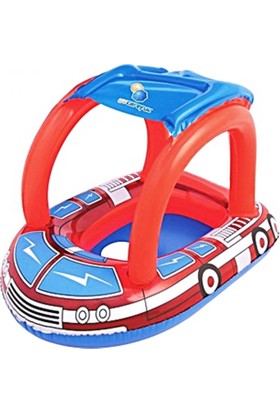 Bestway Araba Şeklinde Oturaklı Gölgelikli Bebek Botu - Baby Float 34093