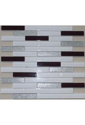 Mcm Mutfak Tezgah Arası Kristal Cam Mozaik 20 x 98 Mp 470