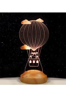 Sevgi Lambası Kuzucuklu Balon Desenli Çocuk Odası Dekoru 3 Boyutlu Lamba