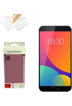 Case Man Meizu MX5 Silikon Kılıf Ultra İnce Koruma Telefonunuza Tam Uyumlu