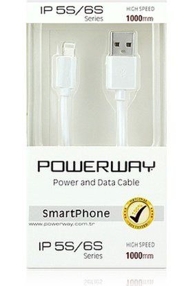 Powerway Apple İphone 5,6 Ve 7 Serisi Şarj Ve Data Kablosu