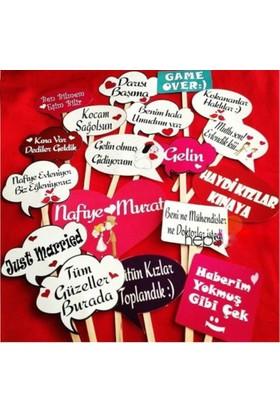 Evsay Kına Gecesi Pankart Konuşma Balonları