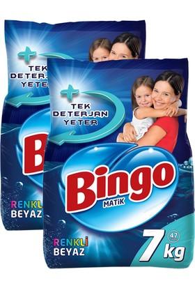 Bingo Matik Konsantre Eko Renkli - Beyaz 7 kg x 2 Adet
