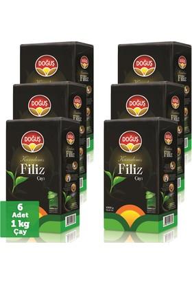 Doğuş Siyah Filiz Çay 1000 gr x 6 Adet