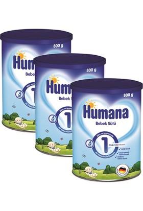 Humana 1 Metal Kutulu Bebek Sütü 800 gr - 3'lü