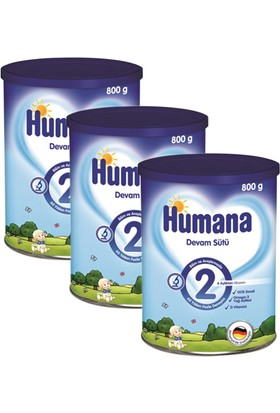 Humana 2 Metal Kutulu Devam Sütü 800 gr - 3'lü
