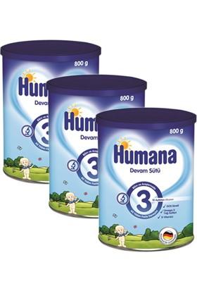 Humana 3 Metal Kutulu Devam Sütü 800 gr - 3'lü