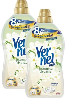 Vernel Max Yasemin & Aloevera Yumuşatıcı 1440 ml x 2 Adet