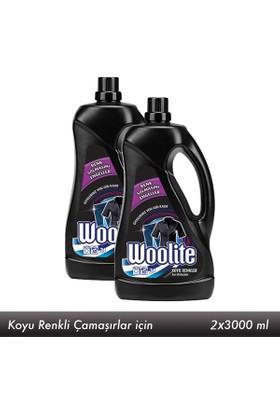 Woolite Sıvı Çamaşır Deterjanı Siyah 3 lt x 2 Adet