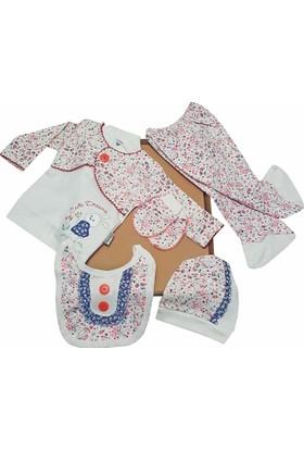 Karyel Bebe 5 Parça Kız Bebek Hastane Çıkışı Yeni Doğan Zıbın Seti Ntm5-9111-M