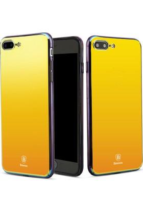 Baseus Apple iPhone 7 Kılıf Glass Serisi Renkli Rubber Case+ Cam Ekran Koruyucu