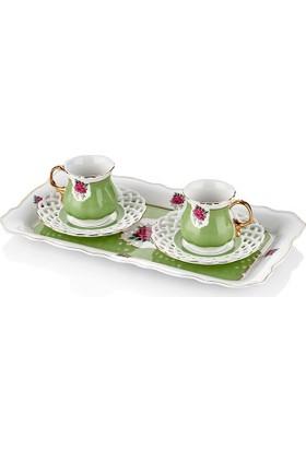 The Mia Eliz Kahve Seti - Yeşil